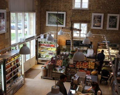 Daylesford Organic Farm Shop interior - visit on one of cycling or walking holidays