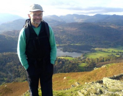 Ian, pictured here fell walking in Lakeland, is one of our hosts on our luxury Lake District guided walking holidays