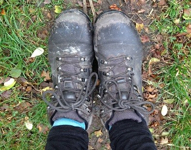 A pair of walking boots - pull yours on and head out on one of our walks with beautiful views in England