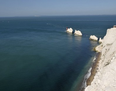 Stunning chalk stacks as seen on our New Forest to the Isle of Wight cycling holiday