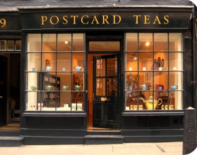 Post Card Teas - one of our top recommendations for tea shops in London