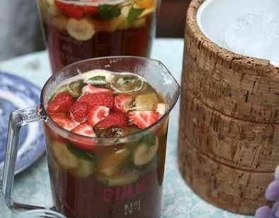 The perfect picnic to pack in your pannier on a cycling holiday - Pimm's is a must!