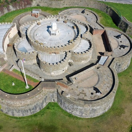 Explore Deal Castle one of the Cinque ports on our Kent castles gentle cycling holiday