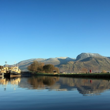 The Caledonian Canal and Ben Nevis on The Carter Company Scottish Highlands cycling holiday