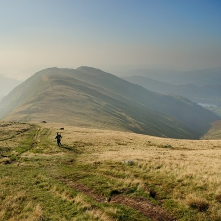 The view from a peak in the Lake District on our walking holidays