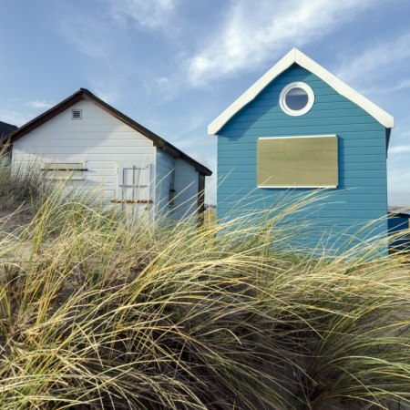 The huts at Hengtisbury on our Dorset beaches and New Forest cycling holiday