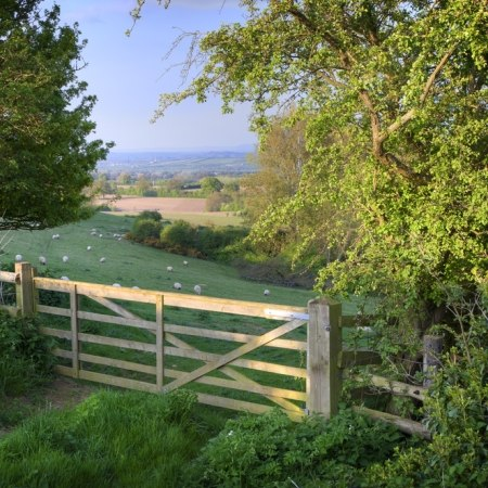 Ilmington gate in the Cotswolds, featured in this cycling and walking holiday