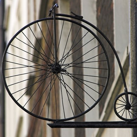 A traditional pennyfarthing - discover more English history on our Grand Tour of England by bike