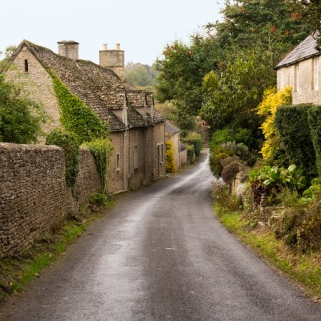 Quiet and picturesque country lane - the route for our Whistle-stop Cotswolds cycle holiday