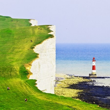 An historic lighthouse on the Kentish coast - part of our Kent coast to capital cycling holiday