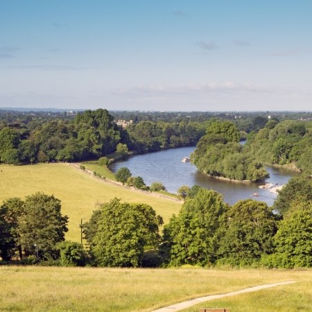 The view from Richmond over the Thames on our walking holiday down the lower Thames