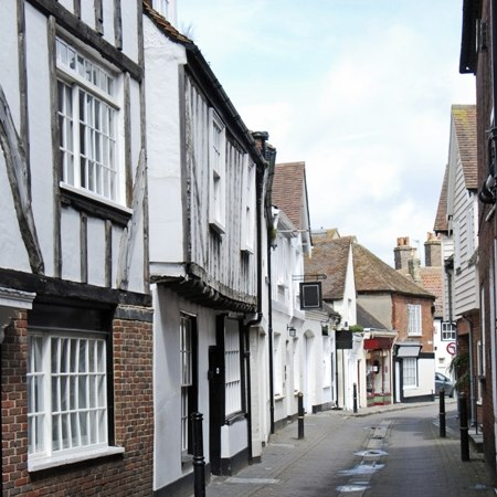 The lovely historic town of Sandwich on our Kent cycling tour