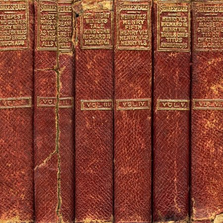 Old volumes of Shakespeare's Works - one of the writers covered on our literary-themed walking holiday