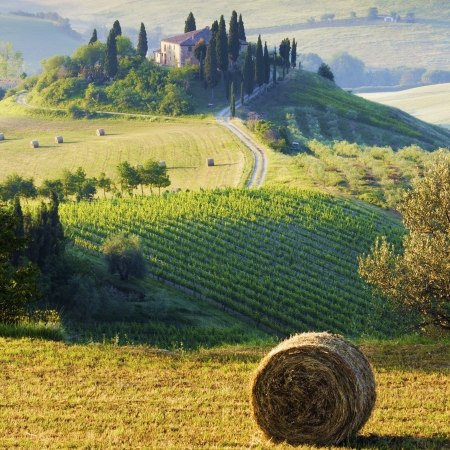 Tuscan valleys on a Carter Company cycling holiday in Italy
