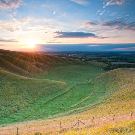 Uffington valley on our Oxfordshire walking and cycling trip