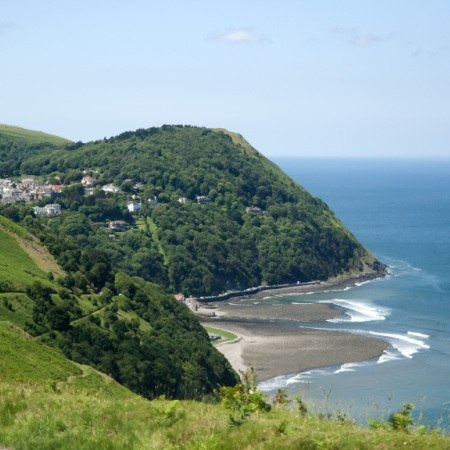 The North Devon Coastline on our 'Seashores and Moors in Devon' walking holiday