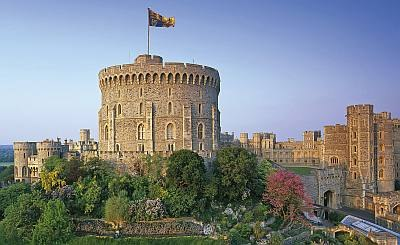 Windsor Castle, the starting point for this luxury winter walking tour along the Thames