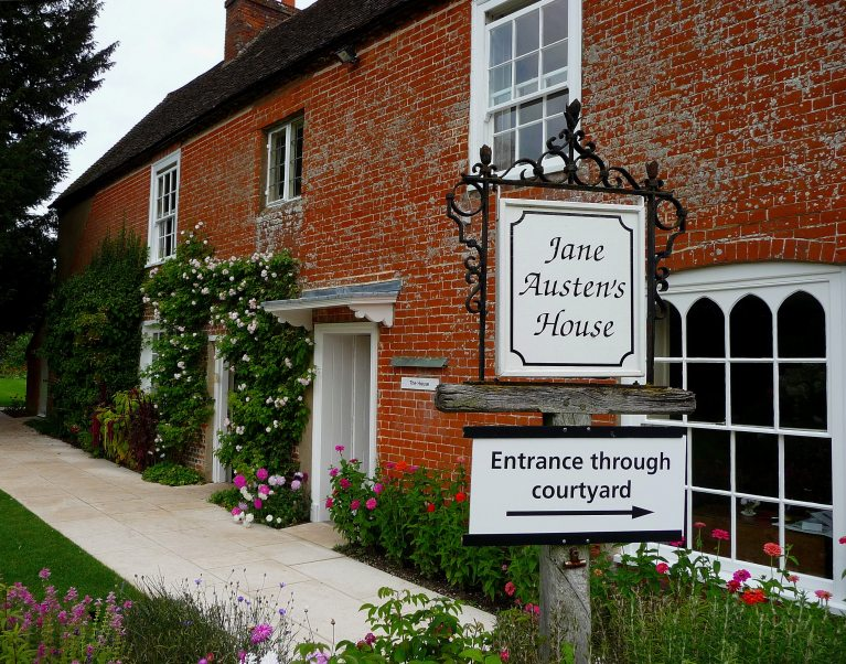 The Jane Austen House Museum in Hampshire, just one amazing museum you can visit on The Carter Company's cycling and walking holidays