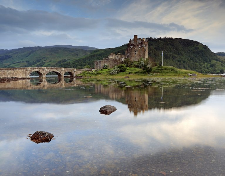 The iconic Eilean Donan castle in Scotland, which does not feature on our tour but is open to the public to visit