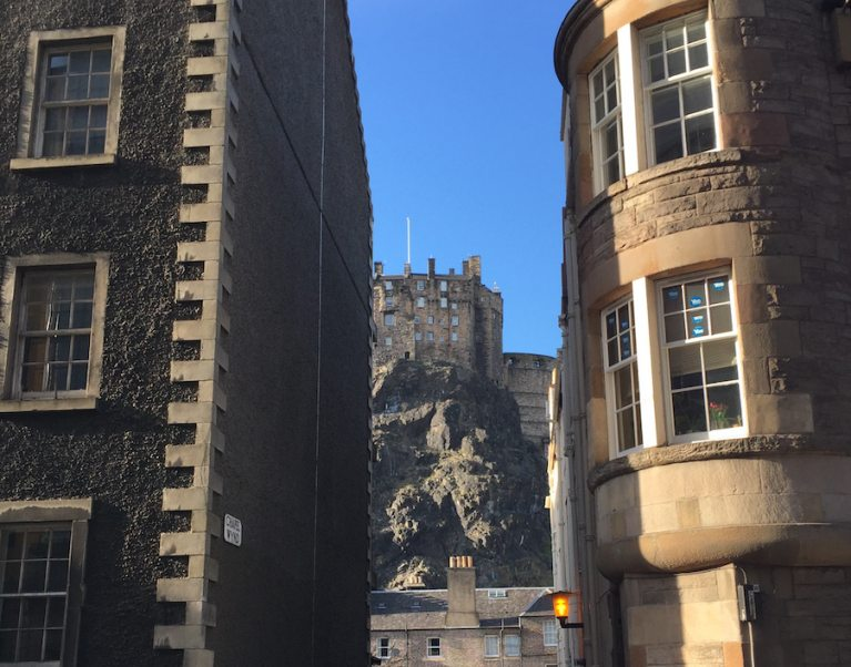 Snapshot of Edinburgh Castle, taken on a Carter Company cycling holiday in Scotland