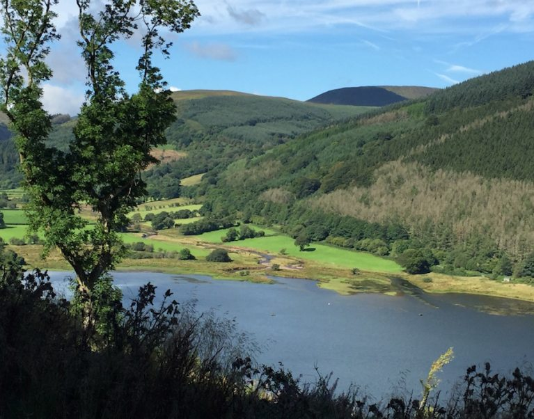 The Brecon Beacons, one of the the 3 National Parks in Wales our new 'Welsh adventure' guided cycling holiday visits