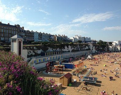 A view over Viking Bay in Broadstairs, Kent