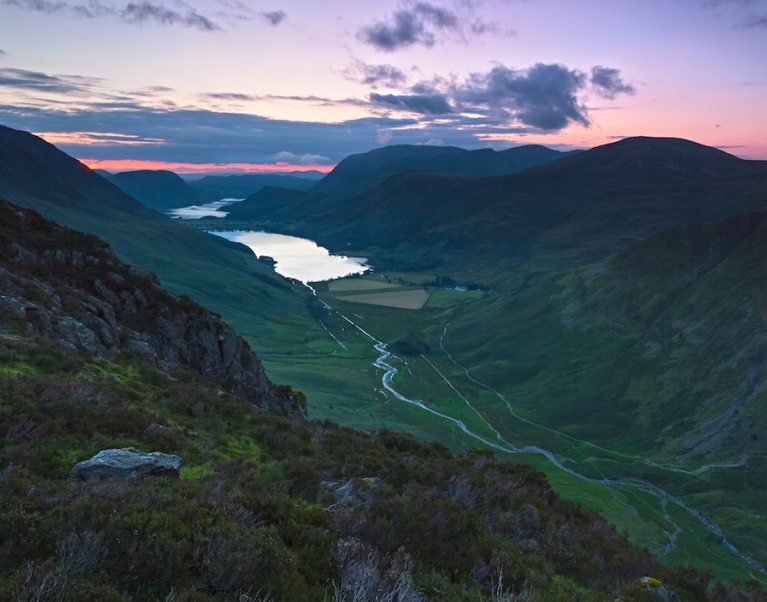 A view over Buttermere in the Lake Distirct, our favourite travel photo here at The Carter Company's cycling holidays and walking tours
