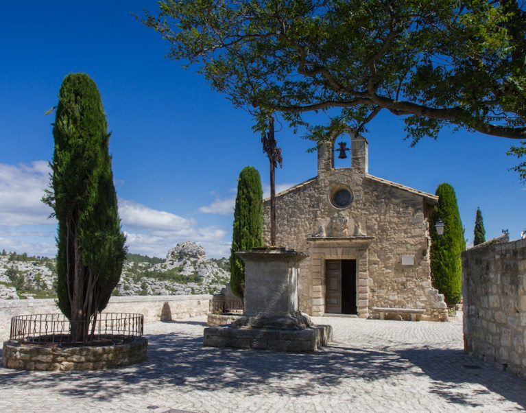 Les Baux de Provence, hailed as one of the 'Most Beautiful Villages in France', which you can visit on our 'Provence and the wild Camargue' cycling holiday