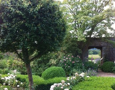 Broughton Castle's garden near Banbury - visit this historic place on our bespoke Oxford walking holidays