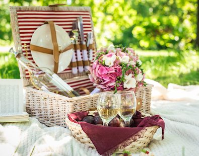 Luxury picnic hampers - ideal for taking along with you on one of our new leisurely and luxury holidays by bike and on foot