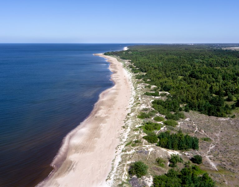 The Curonian Spit in Lithuania in the Baltics - our bike tour here has been named in The Telegraph's 50 best cycling holidays