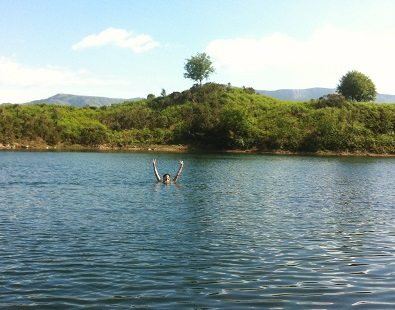 Wild swimming in Wales - many of our trips offer the chance for a wild dip!