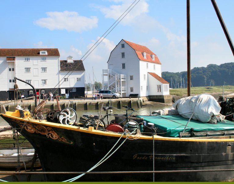 Woodbridge Tide mill epitomises the Suffolk coast character which you can experience on our Suffolk walking and cycling holidays